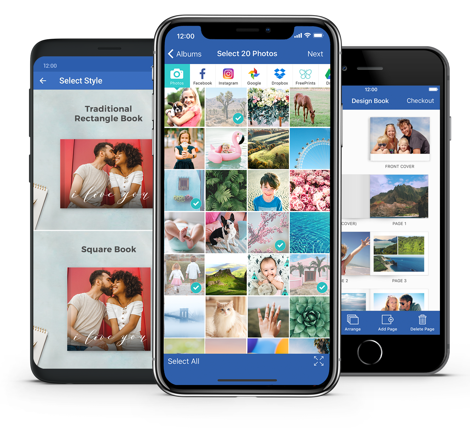Photo book for iPhone and Android