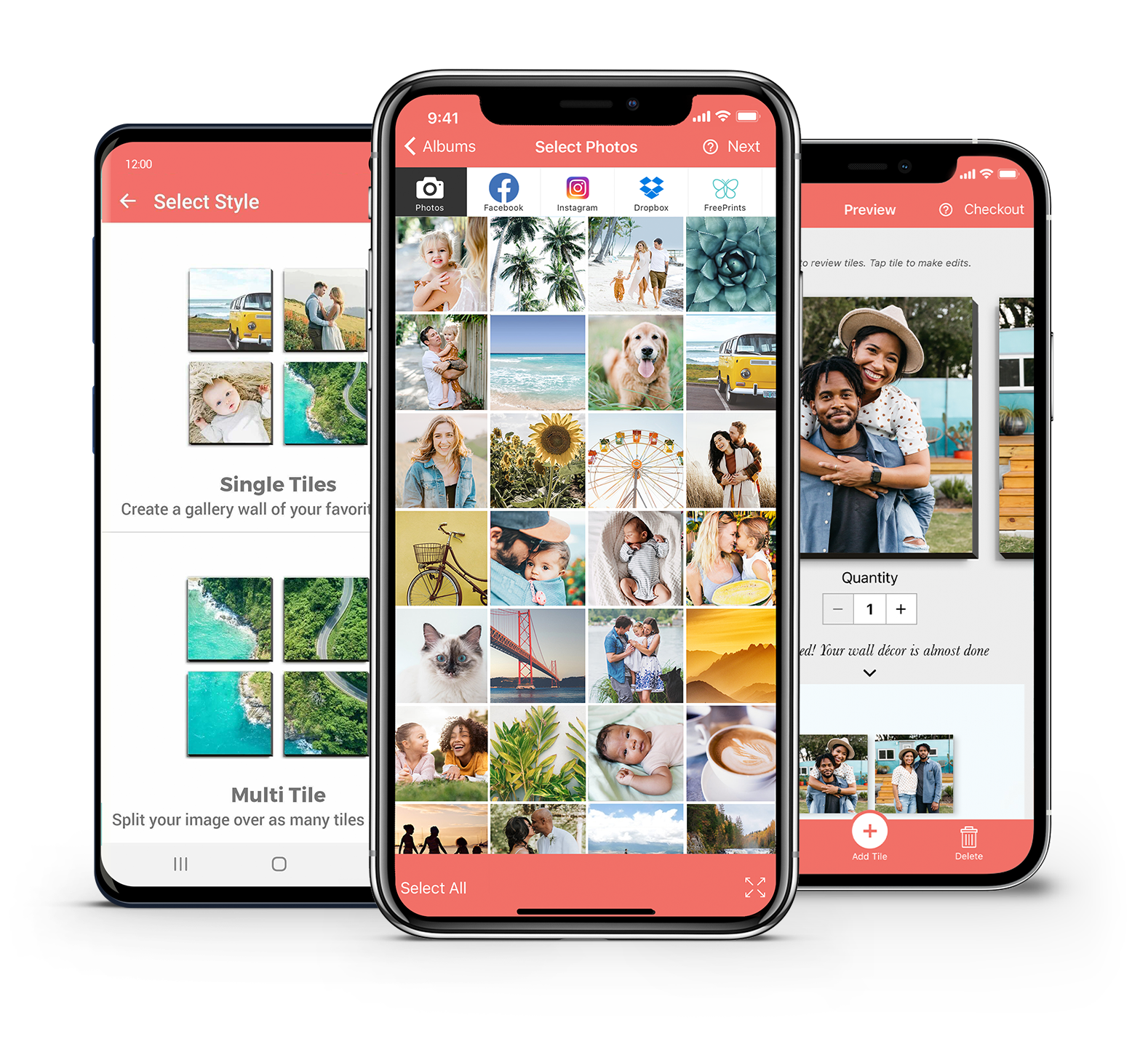 Photo tile for iPhone and Android